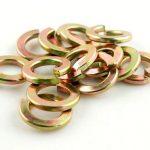 แหวนสปริงชุบสังกะสีสีเหลือง